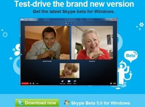 Skype 5.0 beta