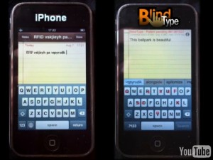 BlindType vs Iphone