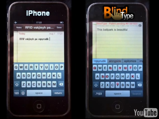 BlindType vs Iphone