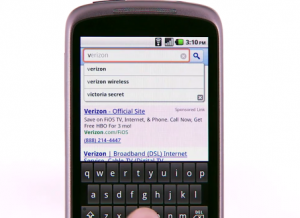Google Instant Search sur téléphones portables