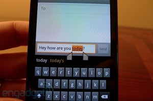 Nexus S : sélection de texte