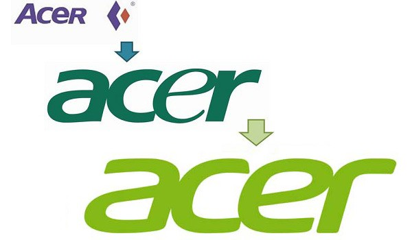 Evolution du logo d'Acer