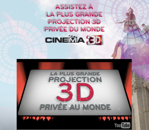 Projection privée en 3D par LG