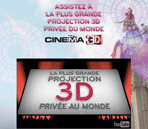 Projection privée en 3D par LG