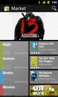 Android market, nouvelle version