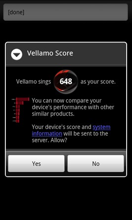 Test Vellamo