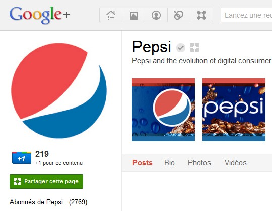 Google + pages