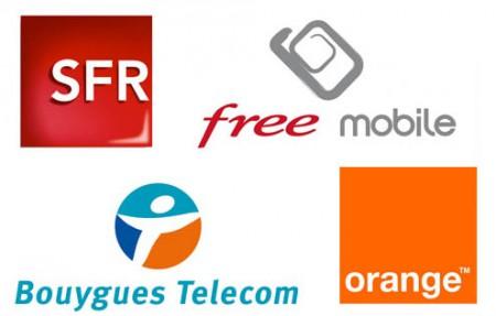 Les 4 opérateurs de téléphonie français
