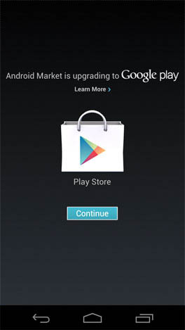 Android Market devient Google Play sur Android