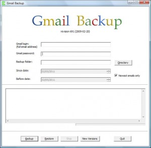 Gmail backup (Screen)