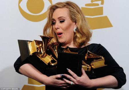 Adèle et ses 6 Grammy Awards