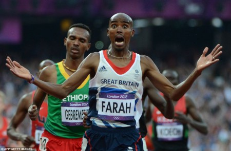 Mohamed Farah et sa seconde médaille en or