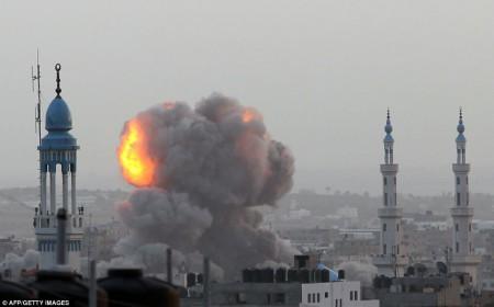 Une explosion à Gaza en novembre 2012