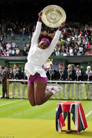 Serena Williams après sa victoire de Wimbledon
