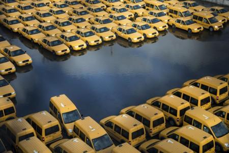 Les taxis New-Yorkais après la tempête Sandy en octobre dernier