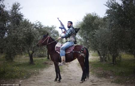Portrait d'un rebel en Syrie