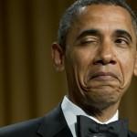 Le clin d'oeil de Barack Obama après une blague pendant un dîner en avril dernier