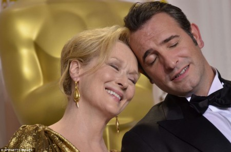 Meryl Streep et Jean Dujardin pour leurs Oscars
