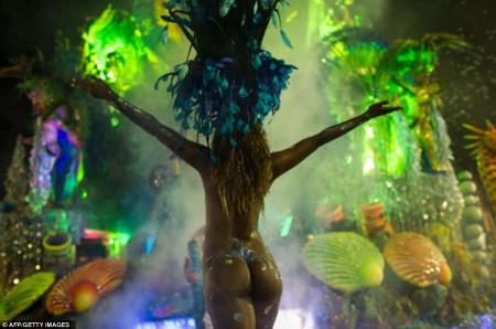 Le carnaval de San Paulo au Brésil en janvier