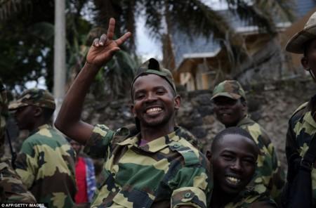 Les rebelles M23 célèbrent leur victoire en République démocratique du Congo