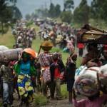 Des congolais fuient la guerre