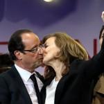 Francois Hollande et sa compagne Valerie Trierweiler lors de son élection