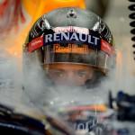 Le regard de Sébastien Vettel avant sa première session d'essais à Singapour
