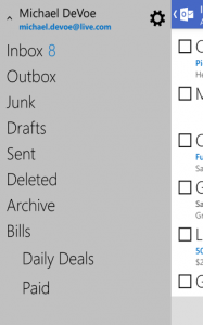 Outlook.com Android Screen 3