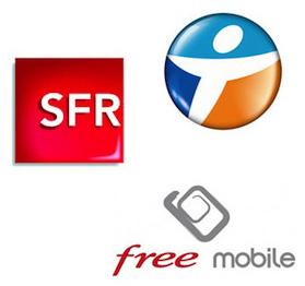 SFR, Bouygues Télécom et Free Mobile
