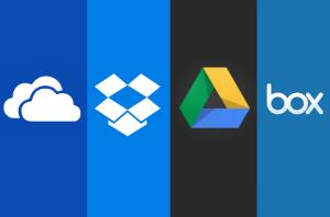 Les acteurs du Cloud : Onedrive, Dropbox, Drive et Box