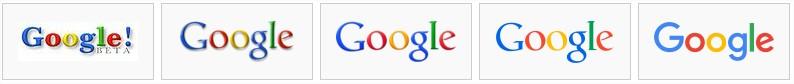 Historique des logos Google
