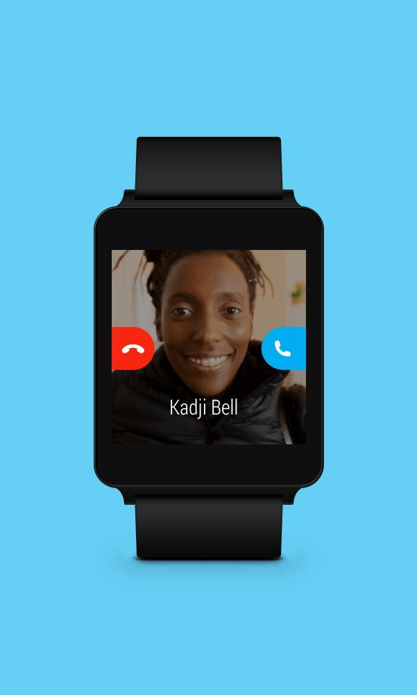 Skype sur une montre