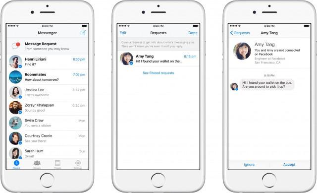Facebook - Demandes de messages