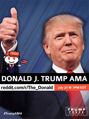 Annonce Trump reddit AMA