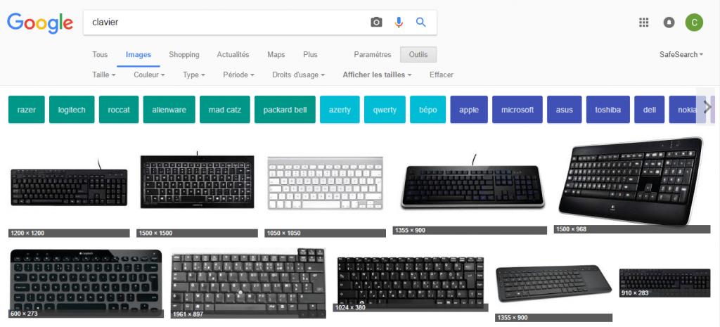 nouvelle fonctionnalite recherche google image
