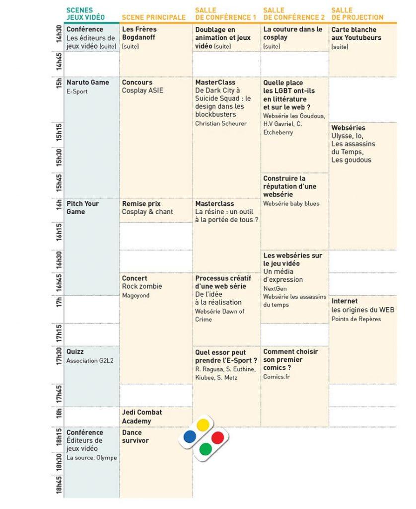 Programme Geek Touch 2017 samedi apres-midi 1