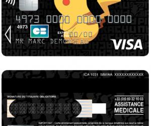 Carte bancaire Visa Black Pokémon