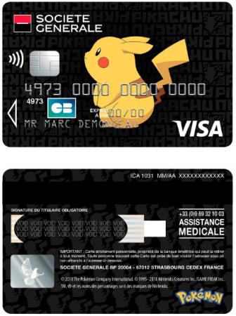 Carte Visa Black Societe Generale.Des Cartes Bancaires Pokemon A La Societe Generale Geekinfos