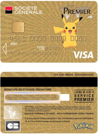 Carte bancaire Visa Premier Pokémon
