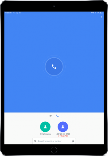 Google Duo sur iPad