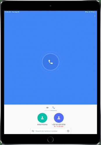 Google Duo sur iPad