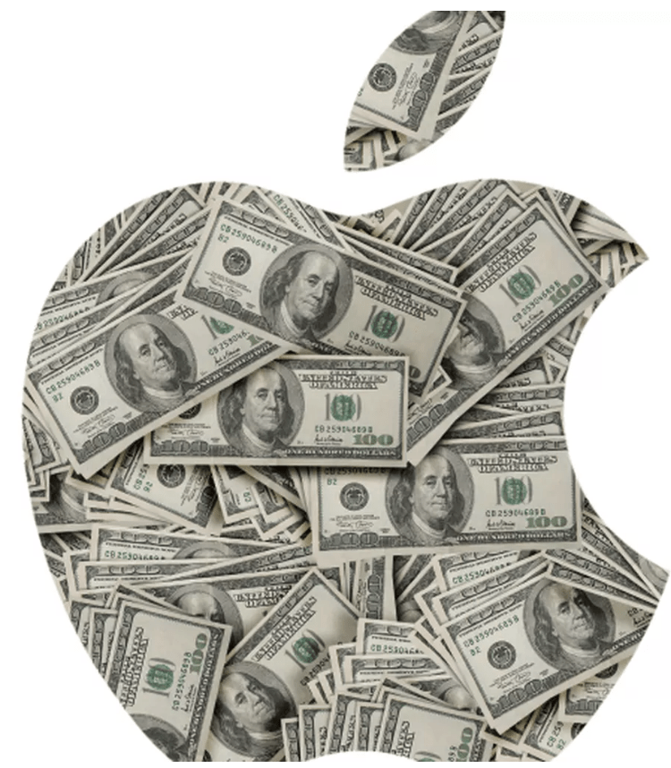 Apple Logo pomme dollars