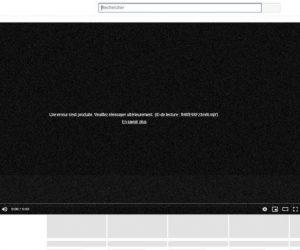 YouTube en panne