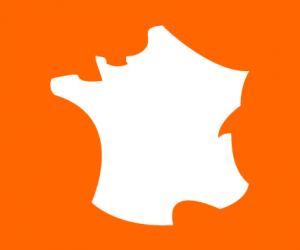 Carte de France Orange