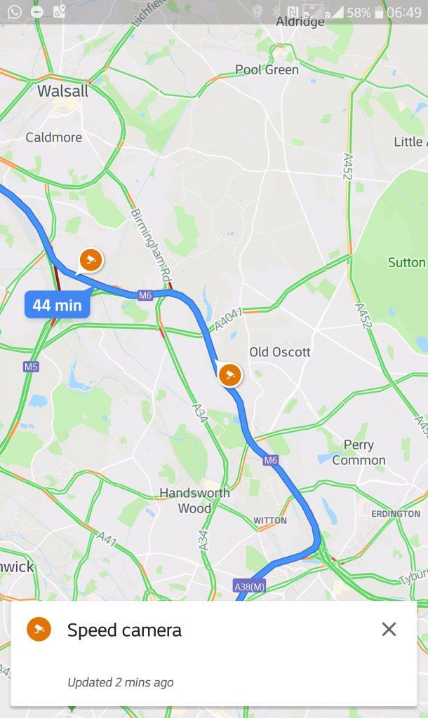 Google Maps - Radars