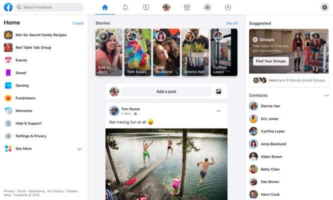 Facebook FB5 Design 2019