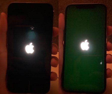 Ecran OLED iPhone 12 Pro présentant des fuites de lumière
